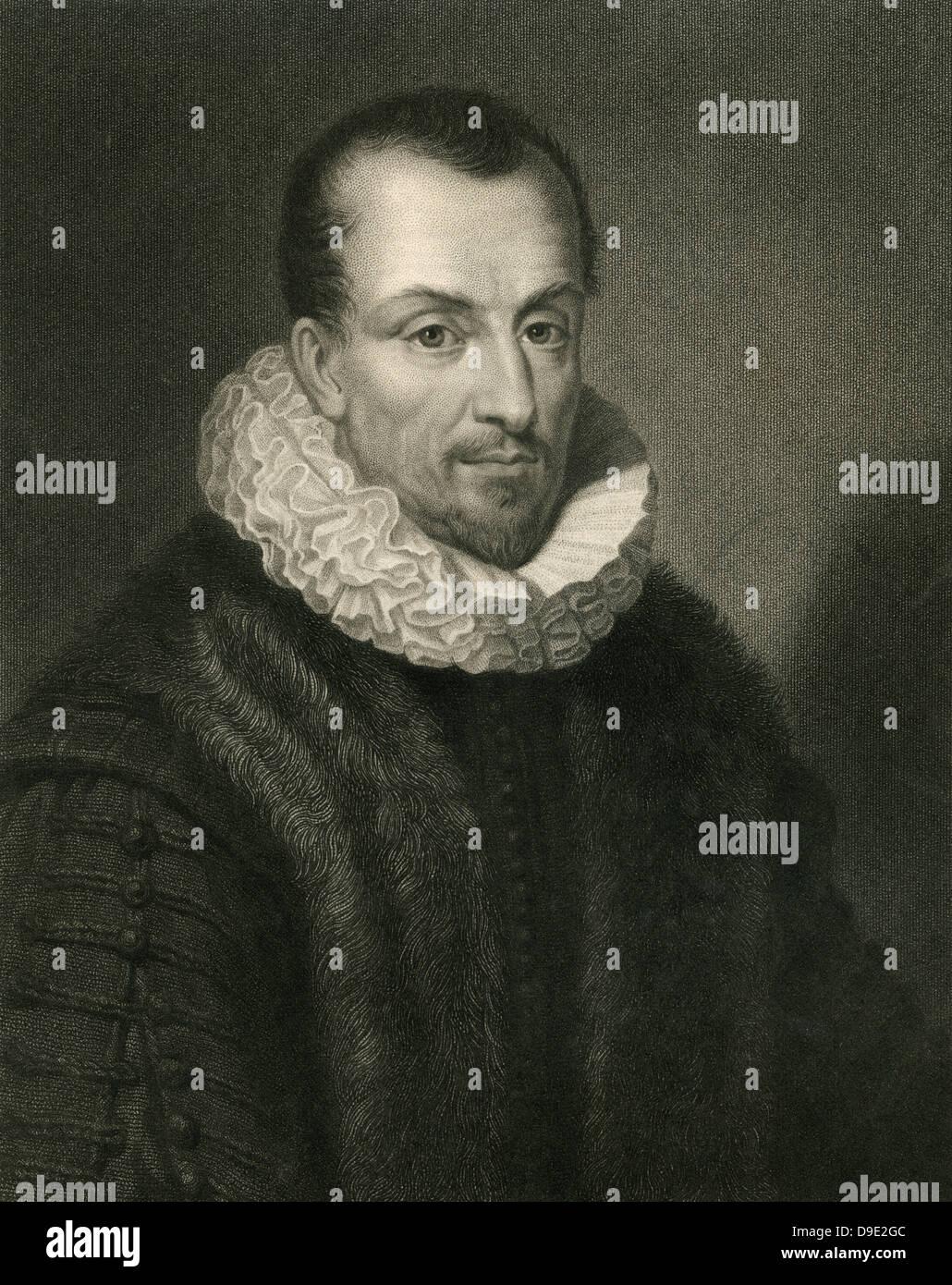 Michel de Montiagne (1533-1592) French Renaissance humanist, statesman and essayist. - Stock Image