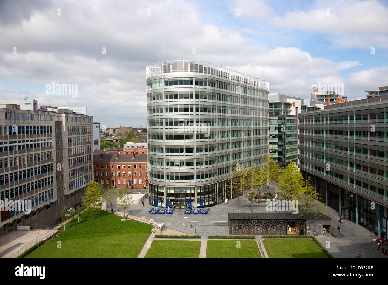 Uk, Manchester, Spinningfields banking district - Stock Image