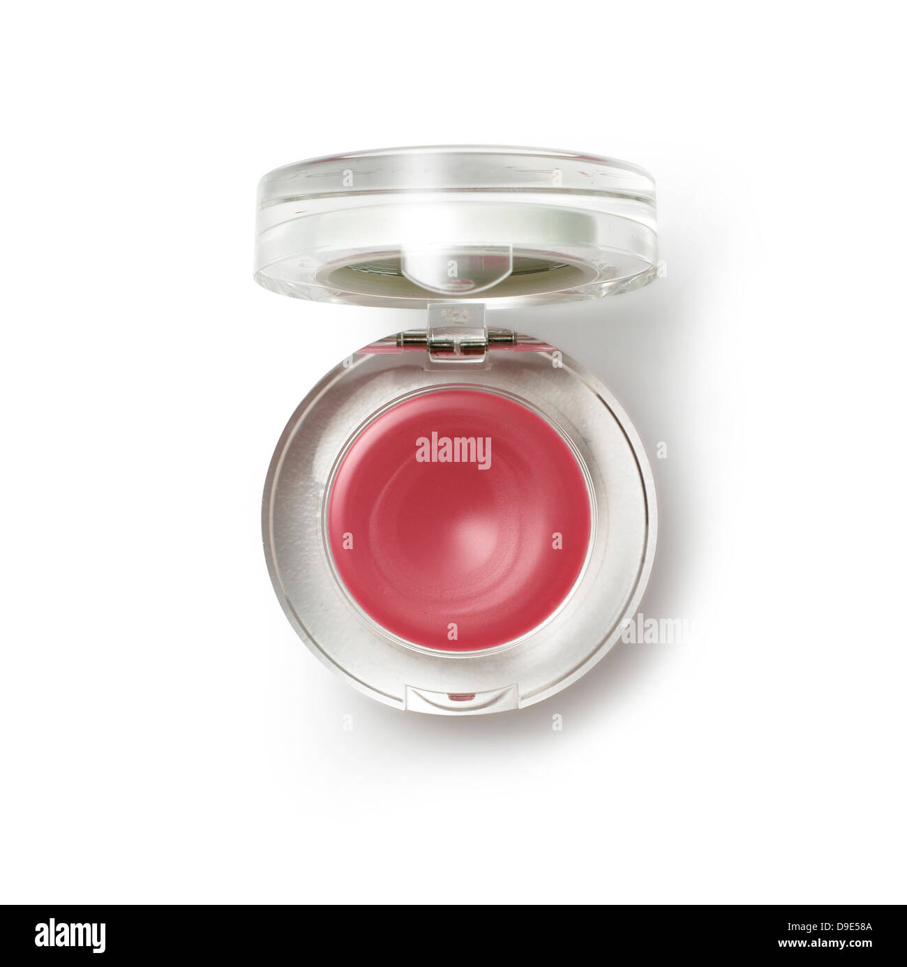 lipstick pot cut out onto white background - Stock Image