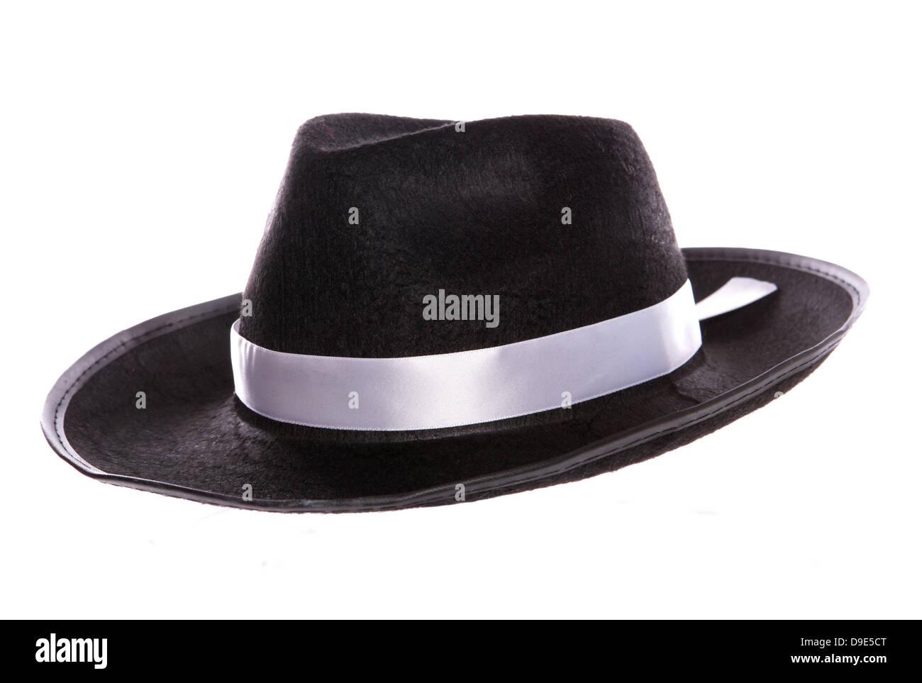 black mafia hat - Stock Image
