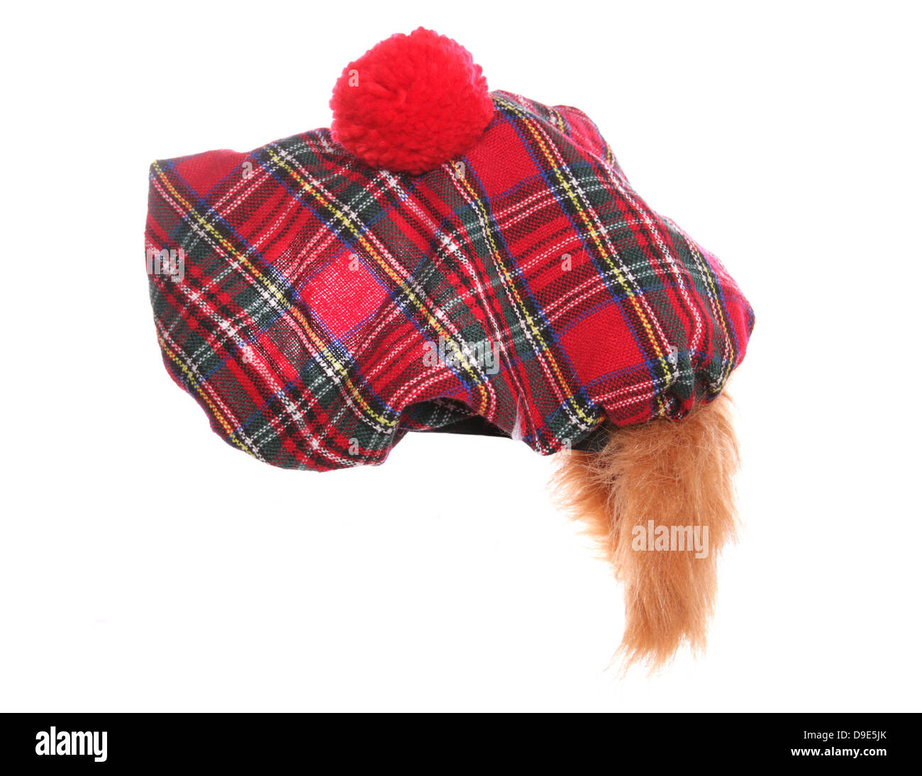 scottish tartan hat - Stock Image