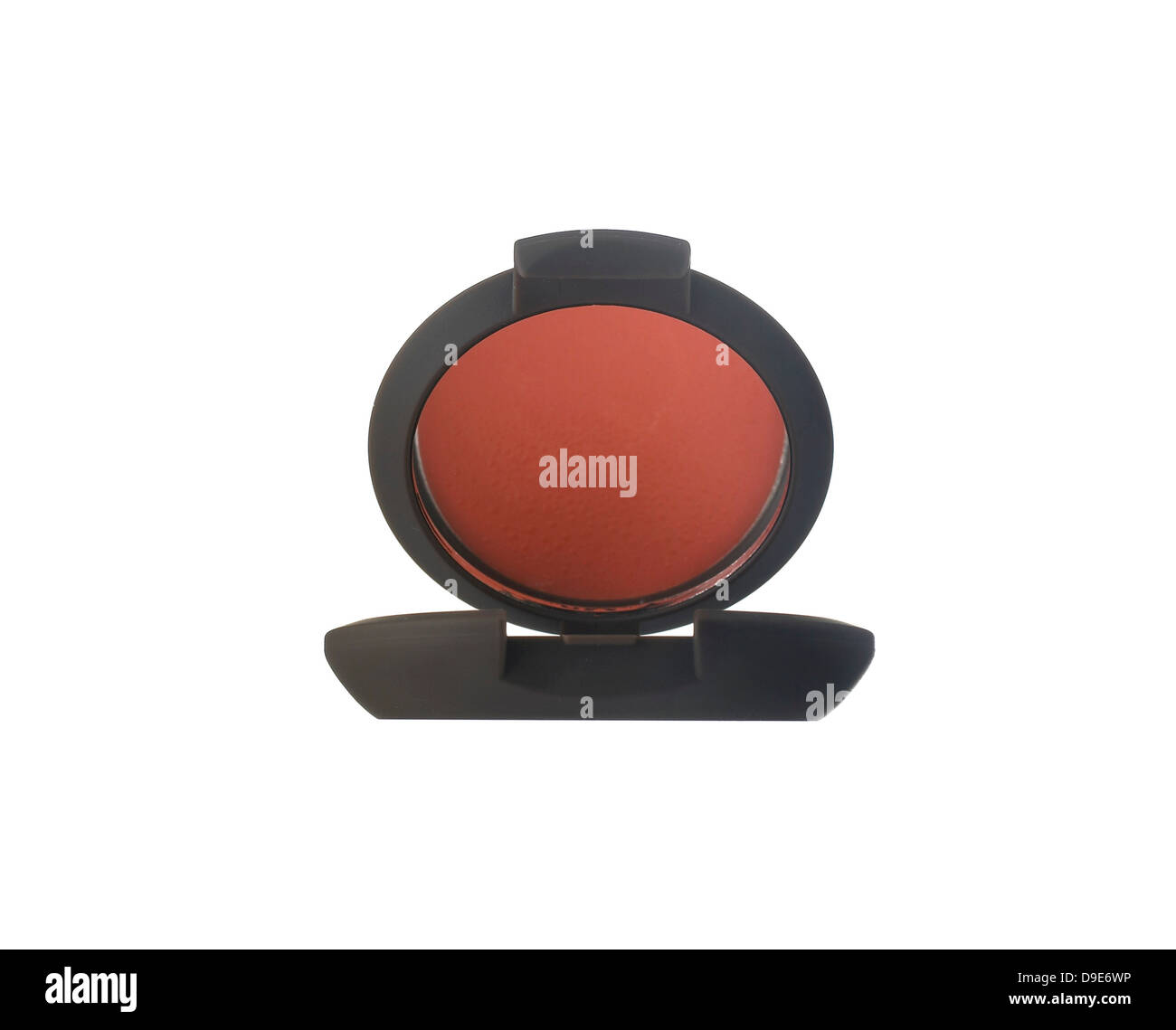 lip compact cut out onto white background - Stock Image