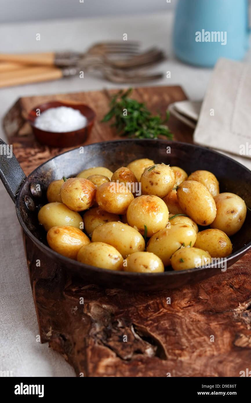Roast potatoes - Stock Image