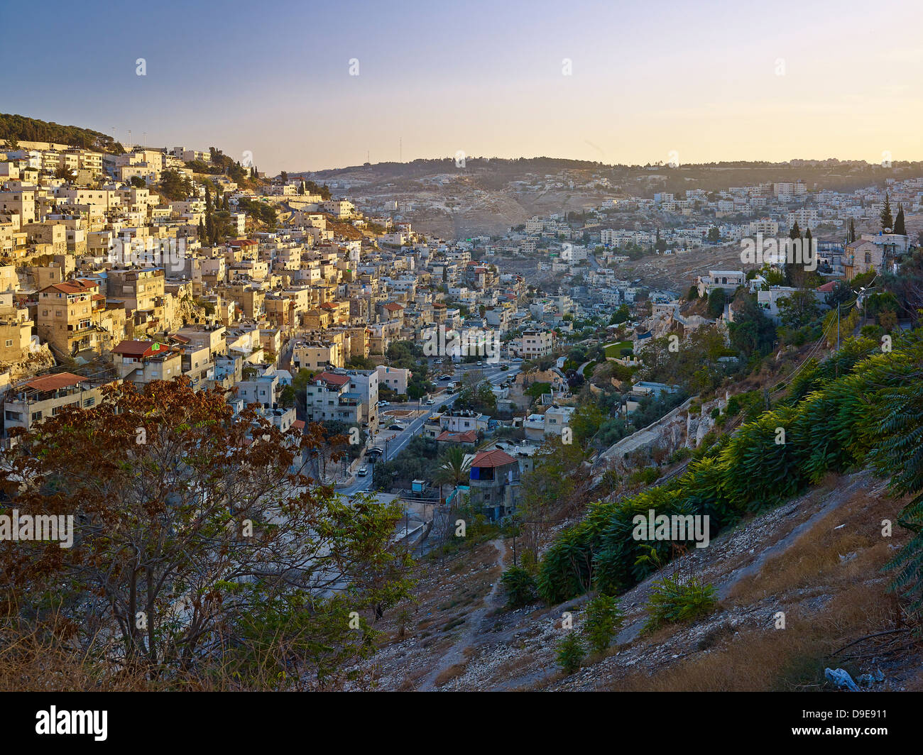 Kidron Valley and Mount of Jerusalem, Israel Stock Photo