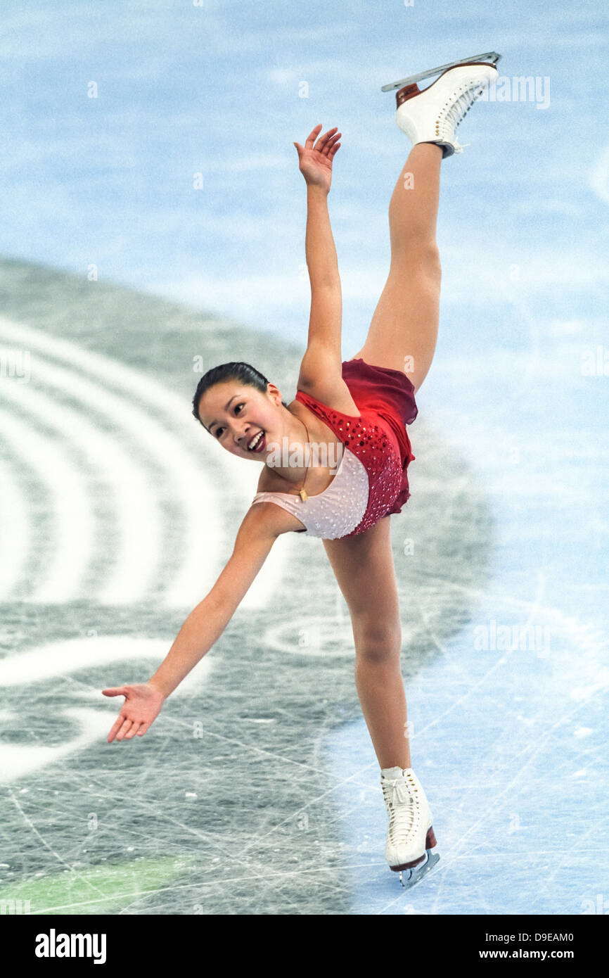 Michelle Kwan (USA) competing at the 1998 Goodwill Games - Stock Image