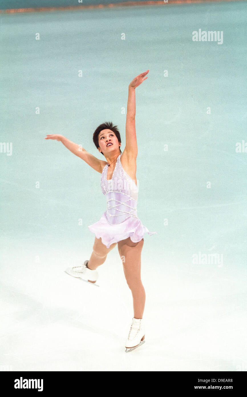 Michelle Kwan (USA) competing at the 1998 World Pro Championships, - Stock Image