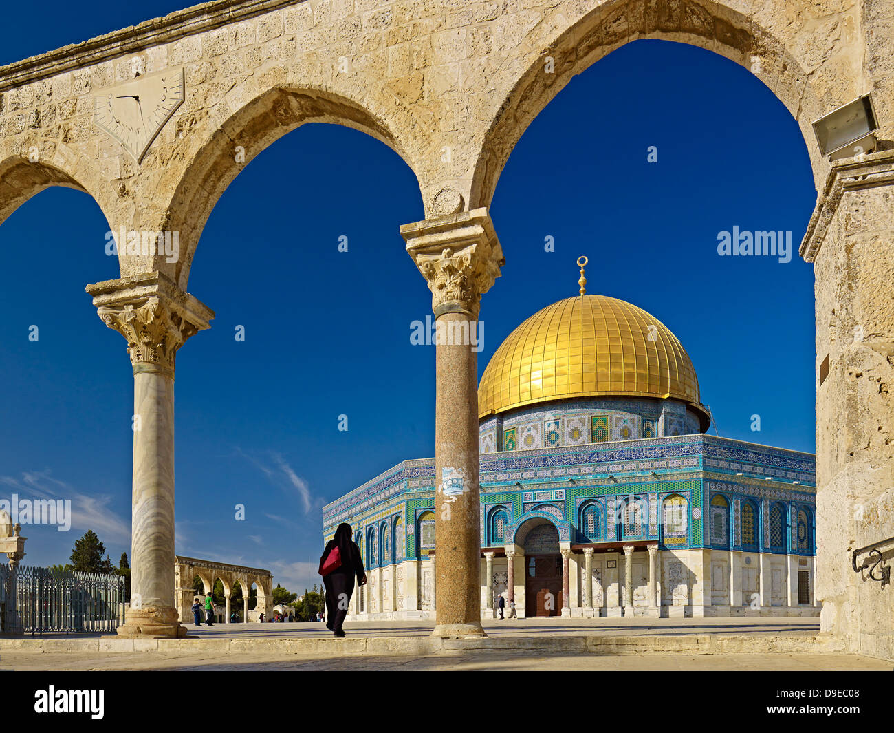 Dome of the Rock on the Temple Mount in Jerusalem, Israel - Stock Image