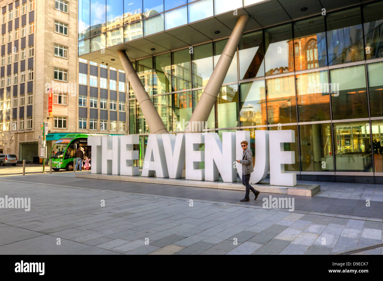 The Avenue Quarter in Manchester, England. - Stock Image