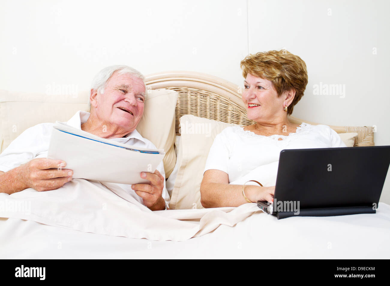 Mature Couple Bed Laugh Stock Photos  Mature Couple Bed Laugh Stock Images - Alamy-8607