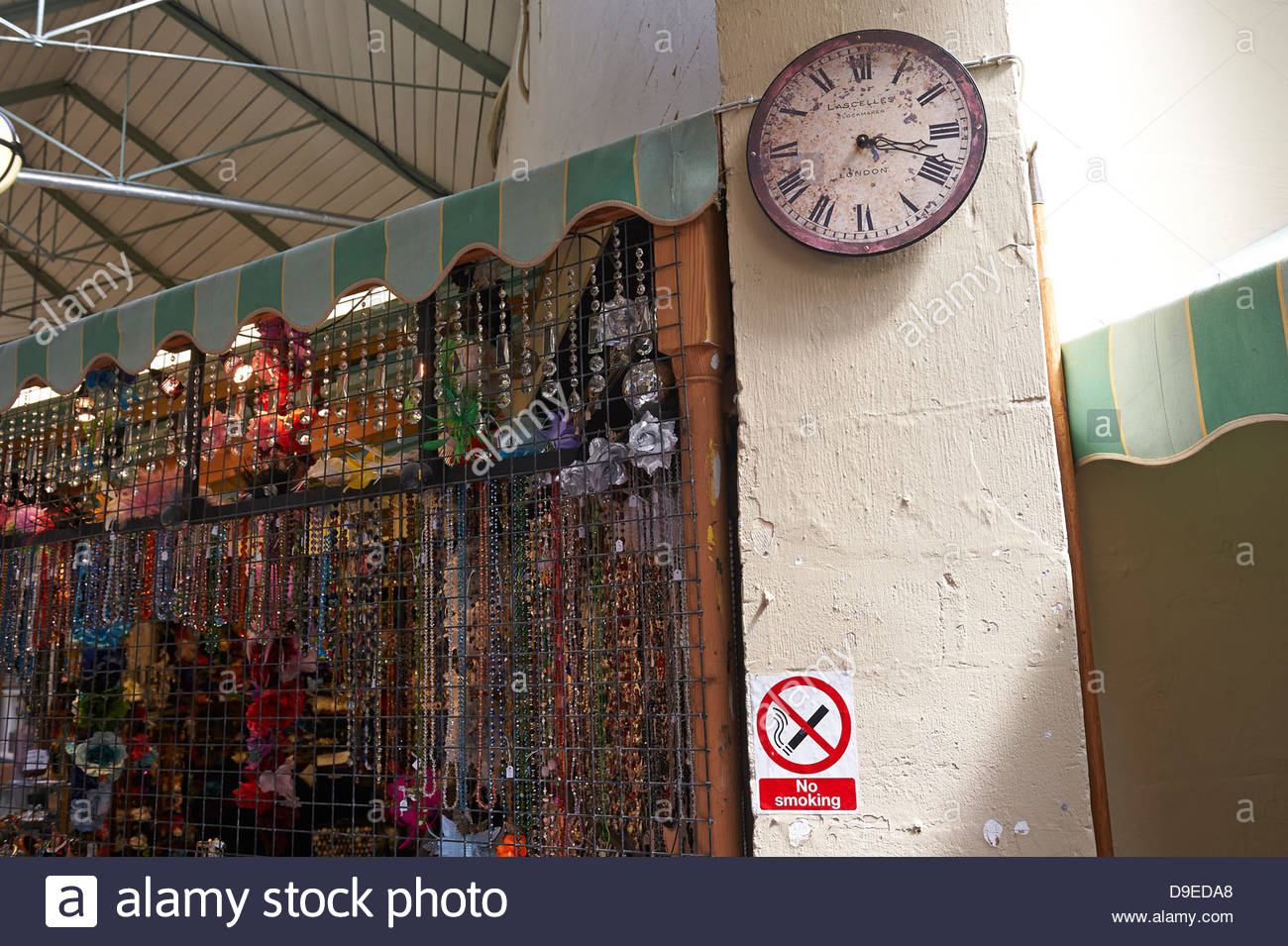 Clock in Market in Bath in Somerset , England, UK - Stock Image
