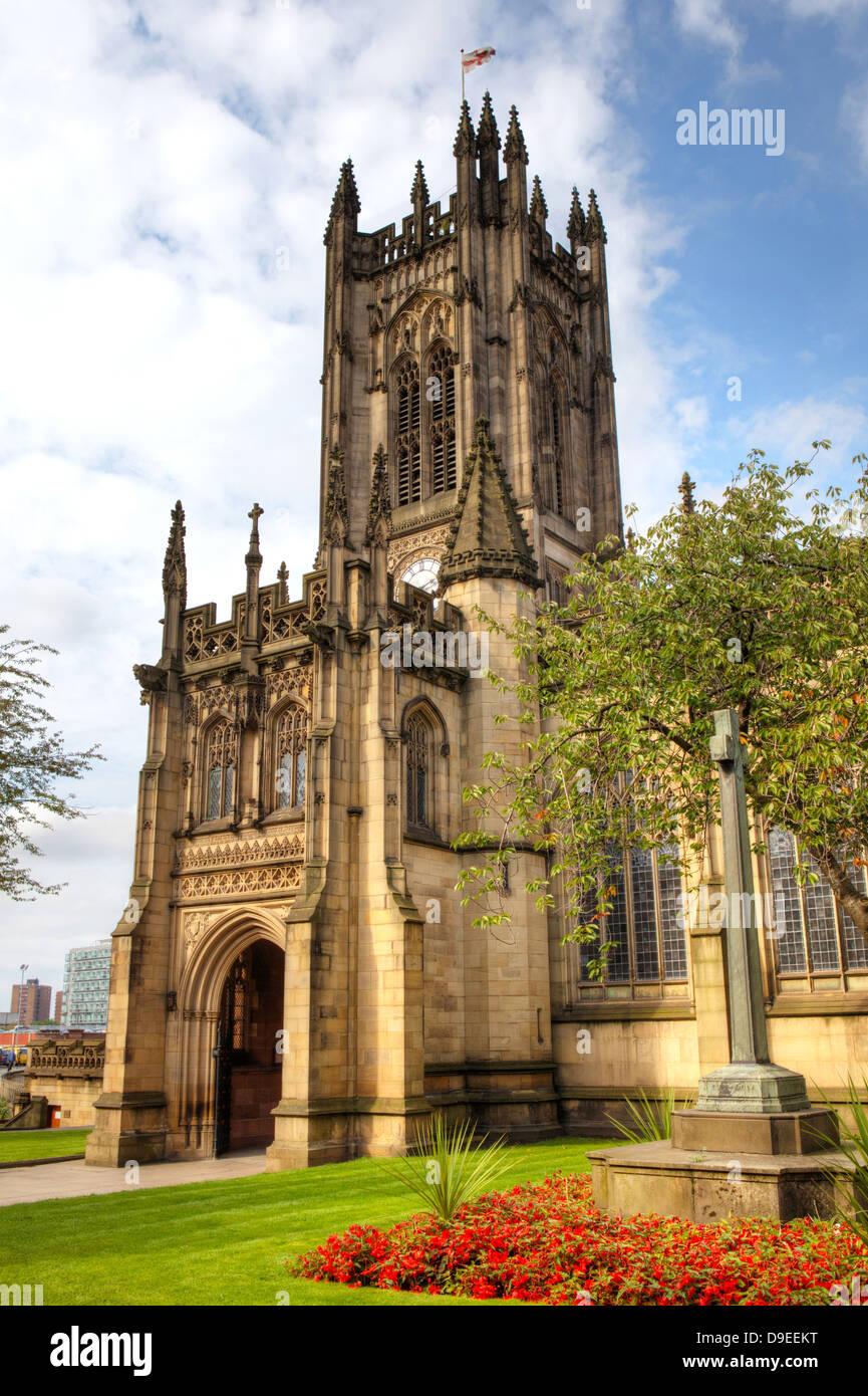 Cathedral in Manchester, England. - Stock Image