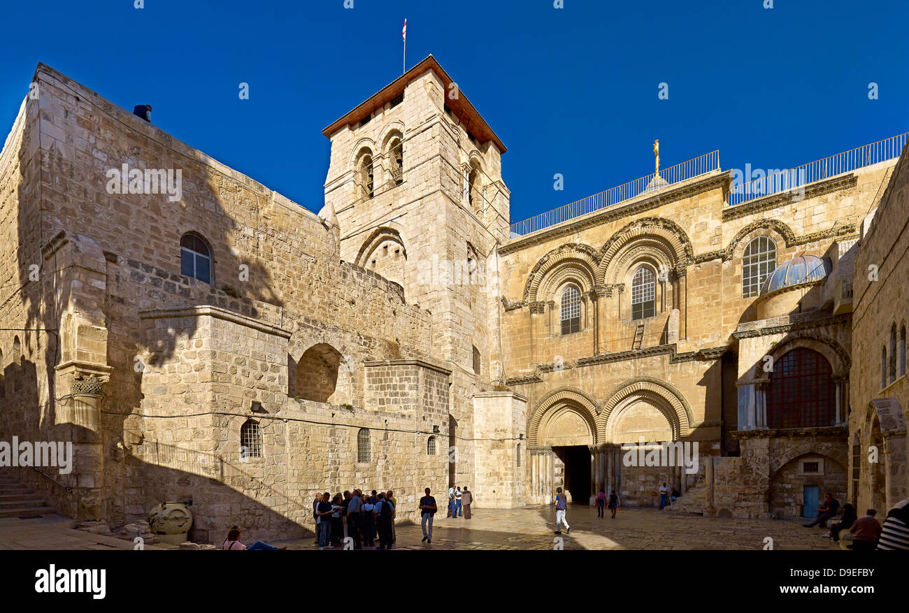Church of the Holy Sepulchre in the Old City of Jerusalem, Israel - Stock Image