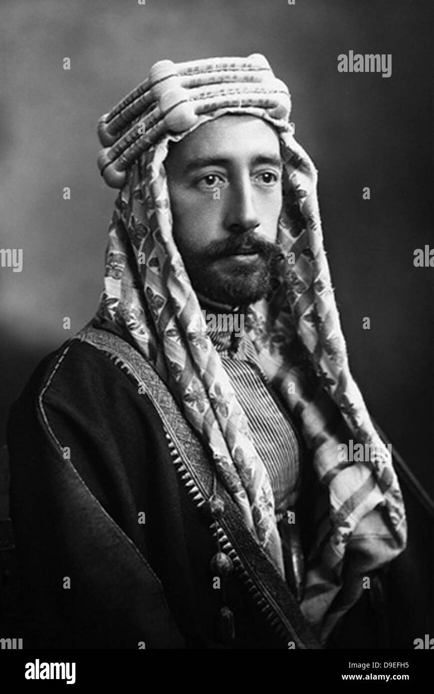 FAISAL 1 OF IRAQ (1885-1933) of the Hashmite dynasty - Stock Image
