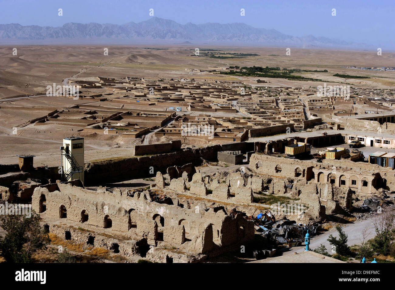Remains of Alexander the Great's Castle in Qalat City, Afghanistan. - Stock Image