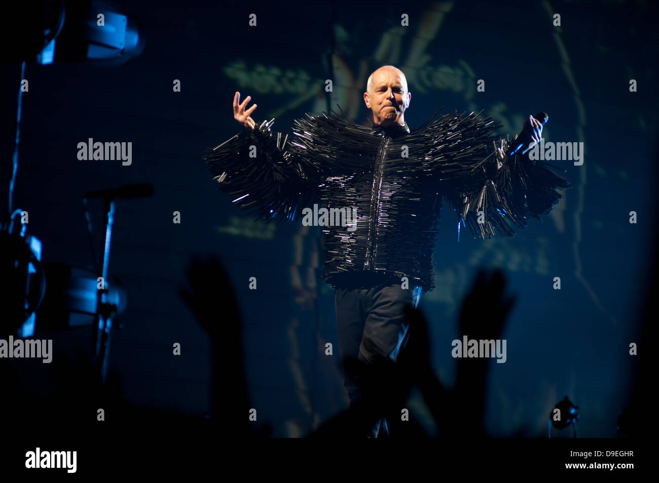 London, UK – 18 June 2013: Pet Shop Boys perform live at the O2 Arena in London - Stock Image
