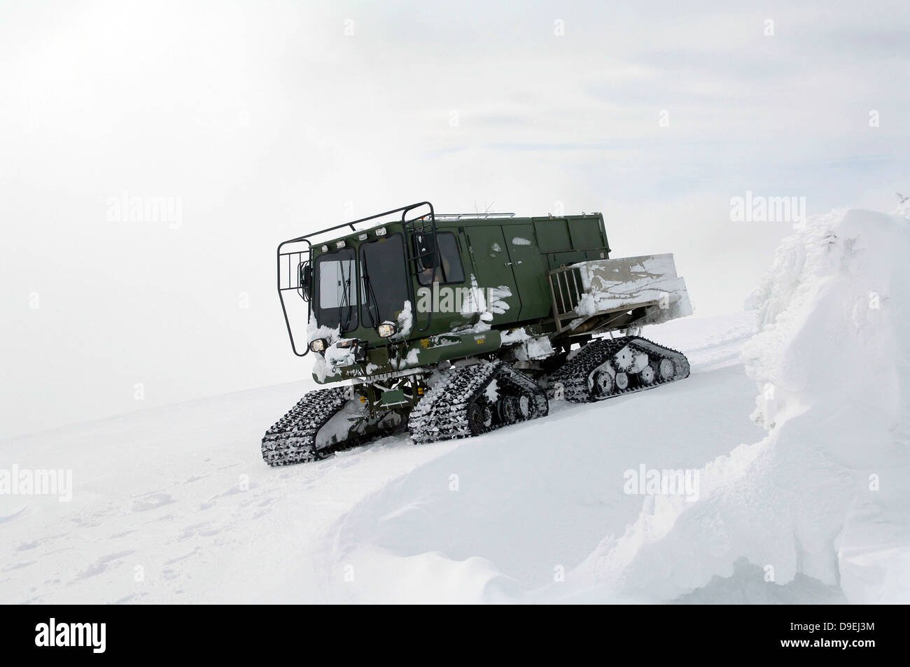 An all-terrain vehicle gets stuck on the Calispell Mountain Peak in Cusick, Washington. - Stock Image