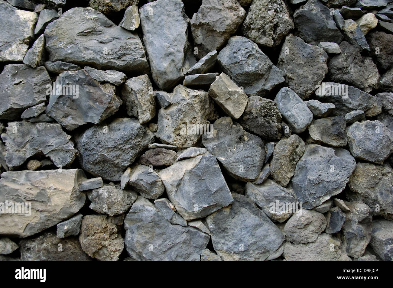 More poorly from stacked quarrystones - Stock Image
