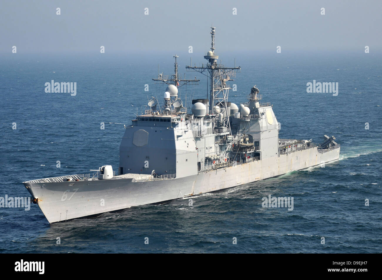 The Ticonderoga-class guided-missile cruiser USS Shiloh. - Stock Image