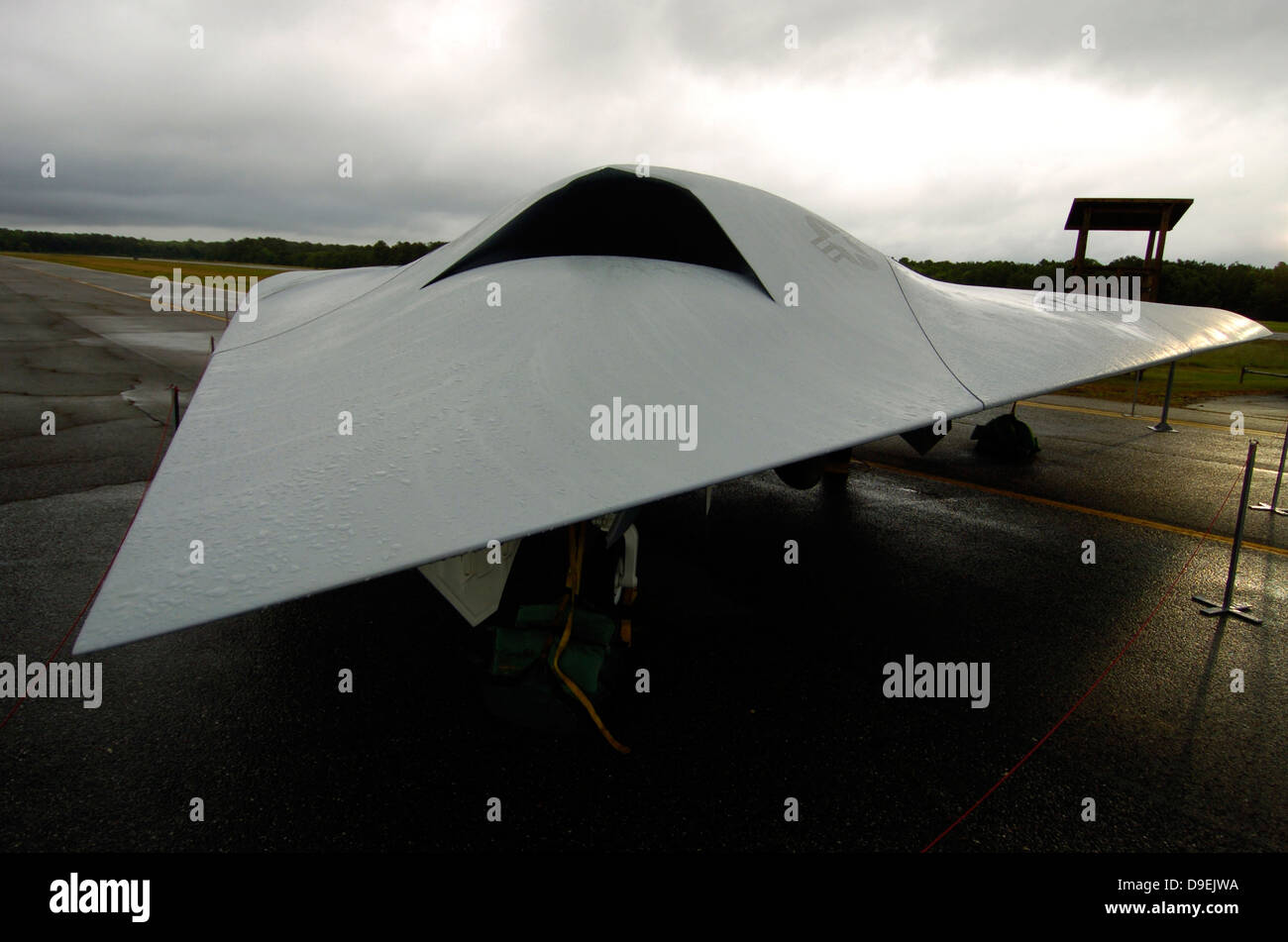 A full scale Joint Unmanned Combat Air Systems X-45C. - Stock Image