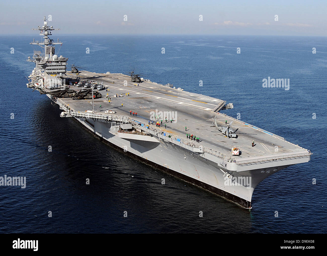 Aircraft carrier USS Carl Vinson. - Stock Image