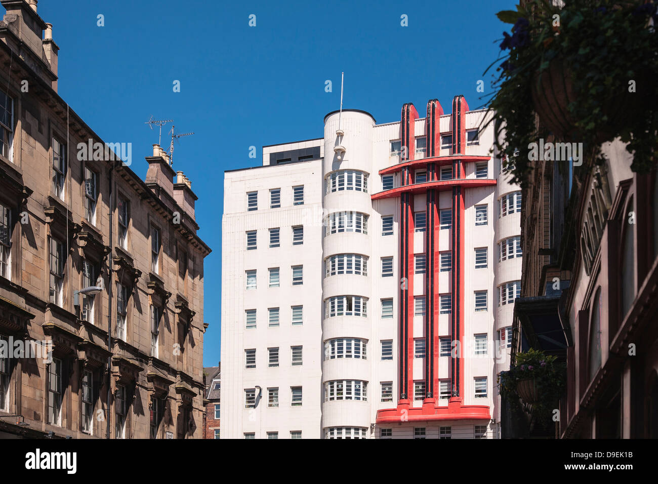 The stylish art deco Beresford Building in Glasgow.  The building is now an apartment block. - Stock Image