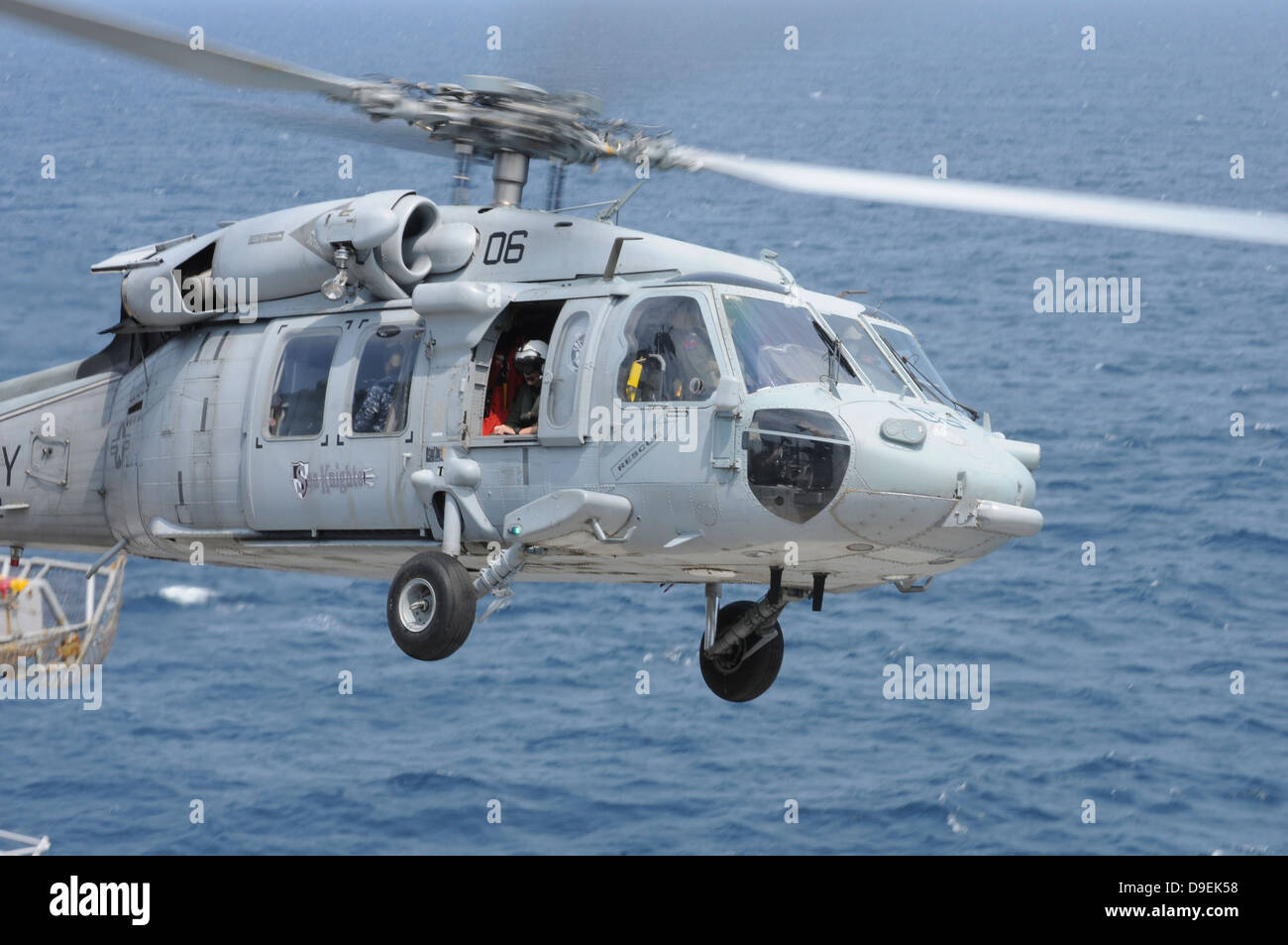 An MH-60S Sea Hawk search and rescue helicopter. - Stock Image