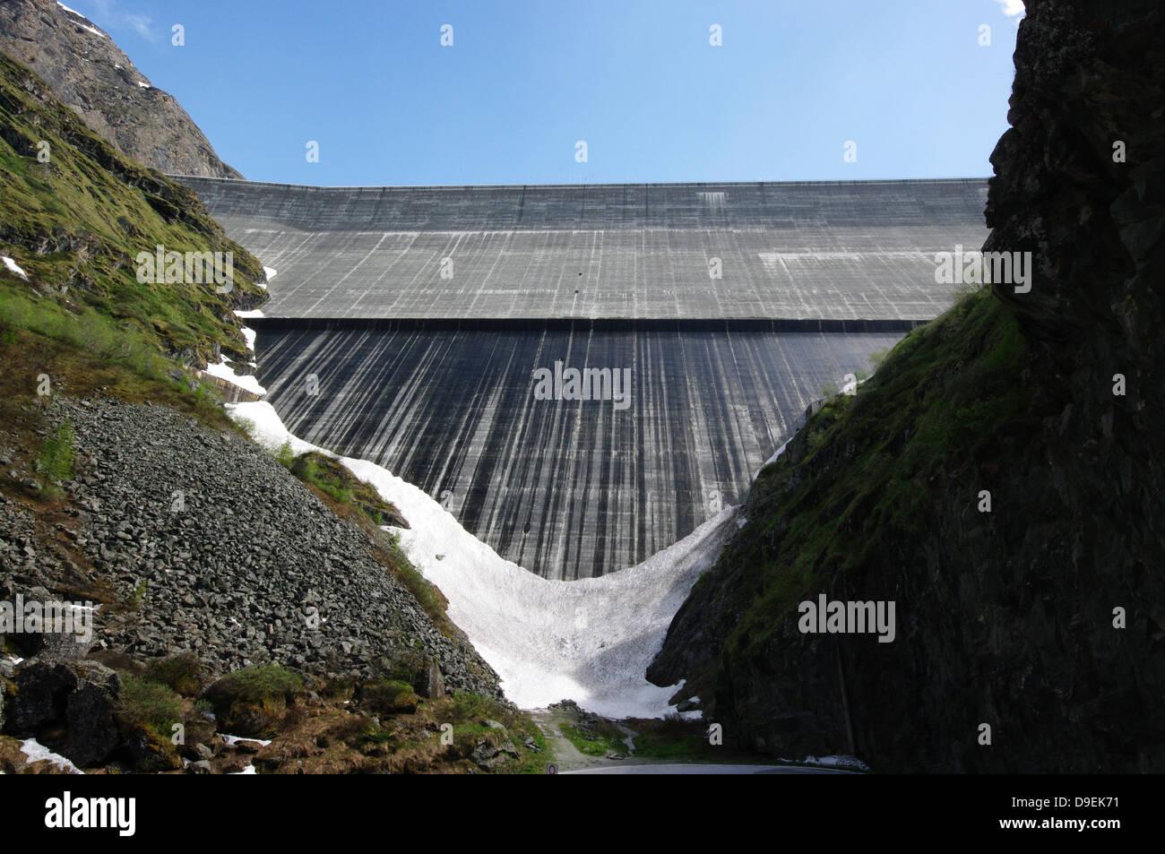 Grande Dixence Dam - Swiss Alps (Val d'Hérens, Valais) - Stock Image