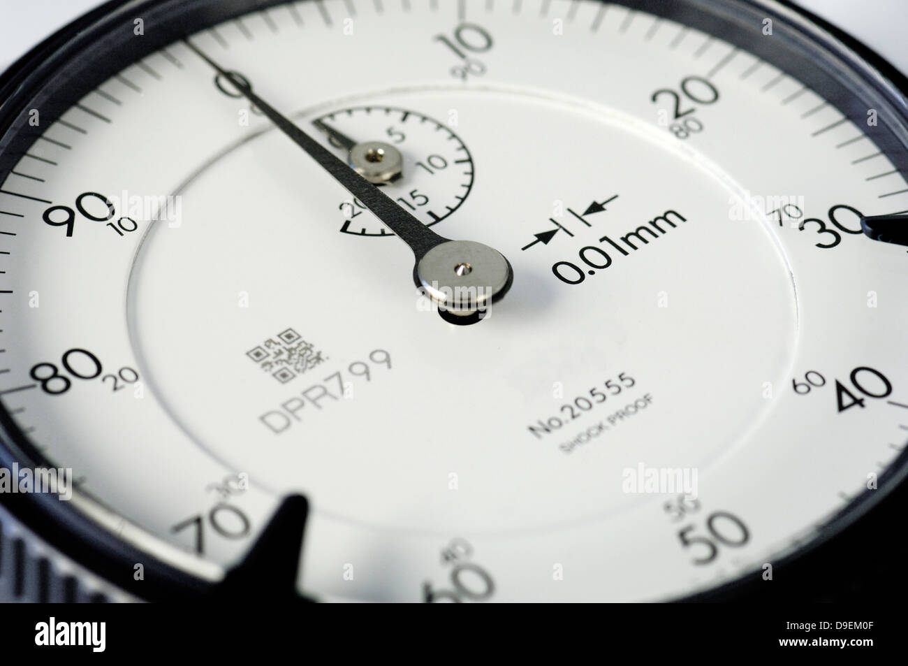 Accuracy announcement register measure out check check Control Craft dial. gauge Digit measure exact exactly precisely - Stock Image