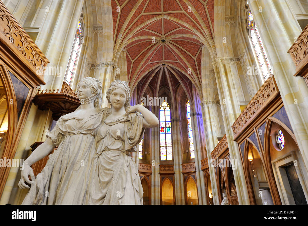 Double statue of the princesses Luise and Friederike of Prussia of Johann Gottfried Schadow, inside view Friedrichswerdersche - Stock Image