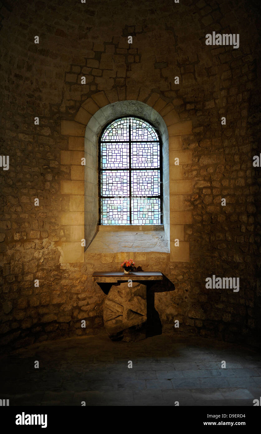 Side altar abbey church Saint-Remi Wed. basilica UNESCO world cultural heritage rhyme Champagne-Ardenne Marne France - Stock Image