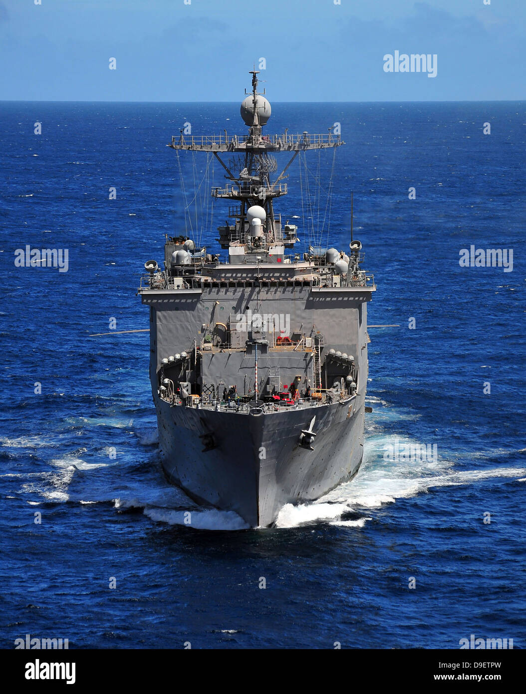 USS Comstock transits the Indian Ocean - Stock Image