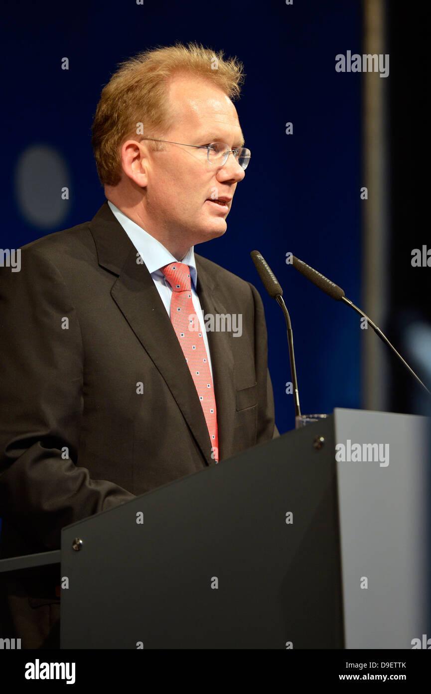 Candidate to the chief burgomaster Sebastian Turner, Stuttgart, Baden-Wurttemberg, Germany, Europe - Stock Image