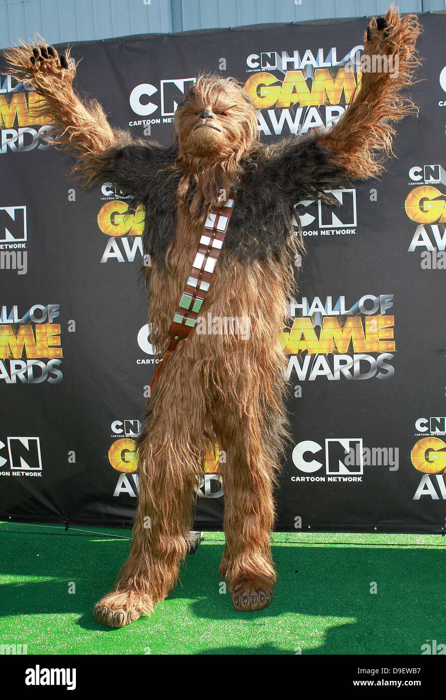 chewbacca from star wars cartoon network hall of game awards held
