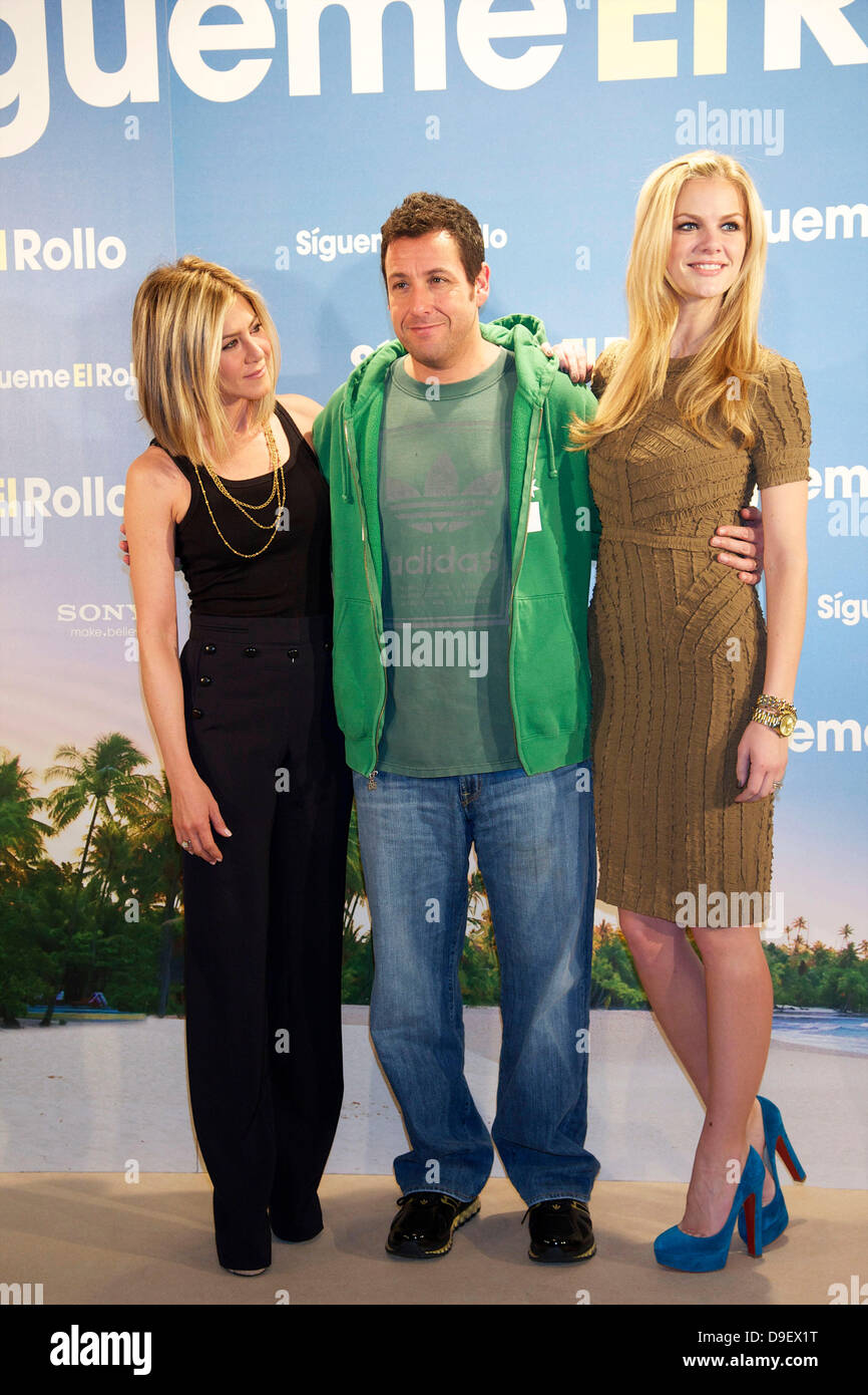Jennifer Aniston, Adam Sandler and Brooklyn Decker 'Just Go