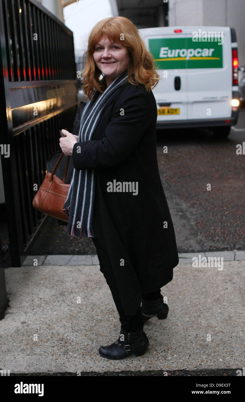 Lesley Nicol at the ITV studios London, England - 22.02.11 - Stock Image