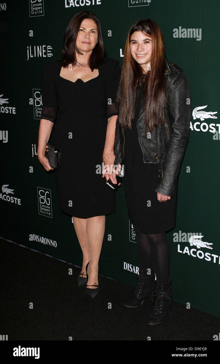 Colleen Attwood and daughter Charlotte Attwood 13th Annual Costume Designers Guild Awards held at The Beverly Hilton - Stock Image