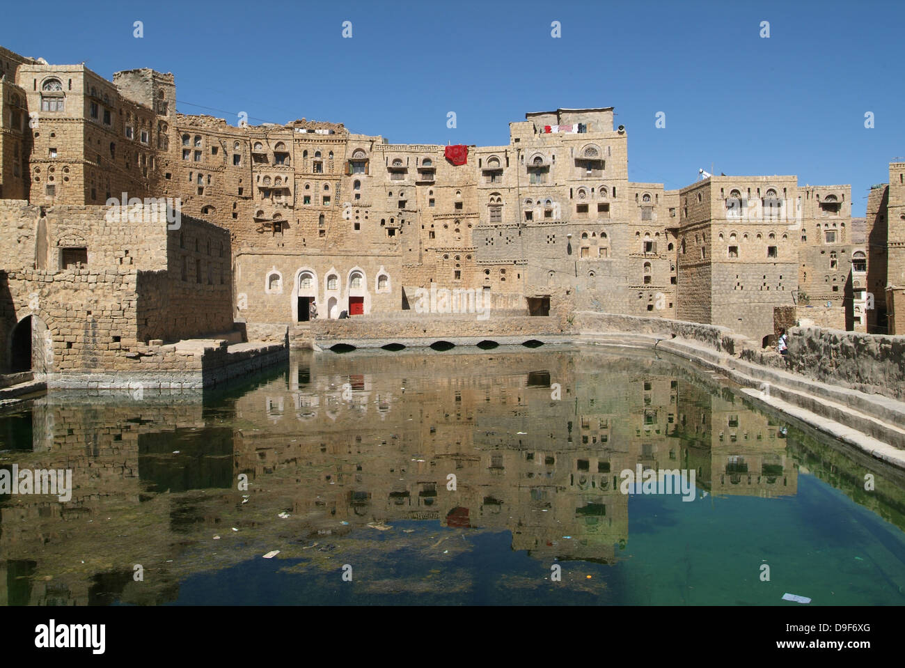 The town of Hababah on Yemen - Stock Image