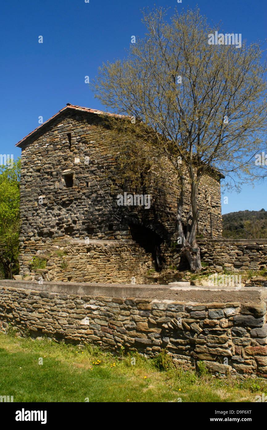 Monastery, Casserres, Vic, Sant Pere, Osona, Barcelona, Catalonia, Spain, Europe, - Stock Image