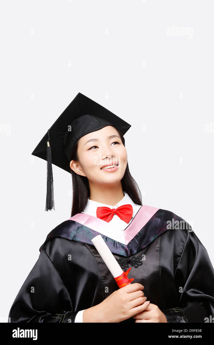 young woman in baccalaureate gown Stock Photo: 57498711 - Alamy