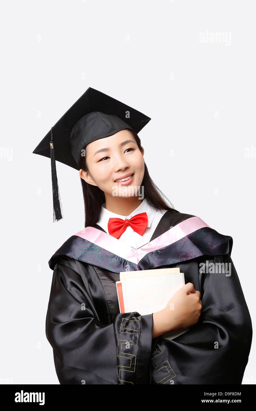 young woman in baccalaureate gown Stock Photo: 57498944 - Alamy