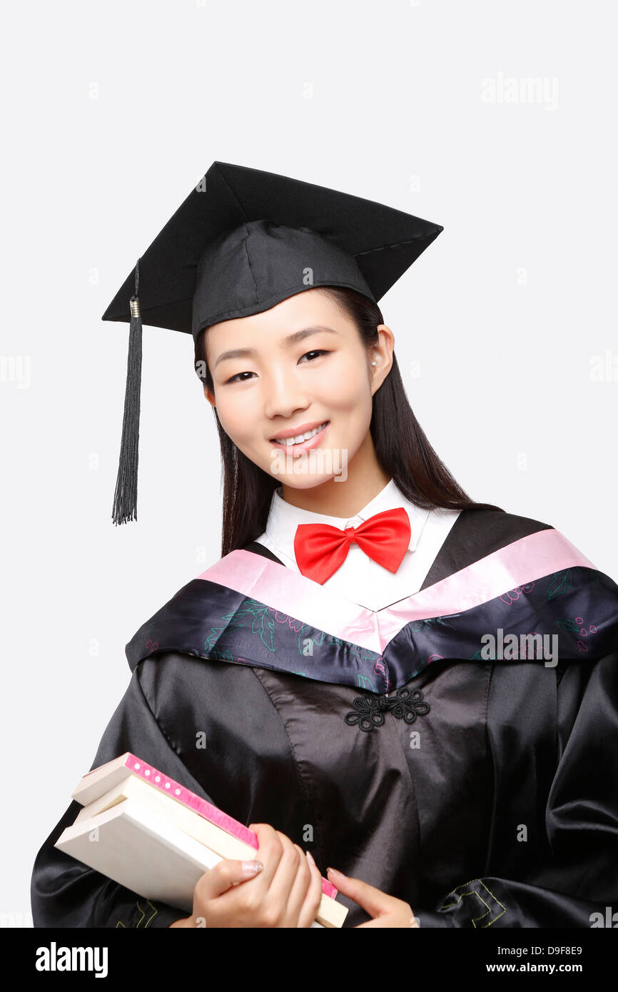 young woman in baccalaureate gown Stock Photo: 57498961 - Alamy