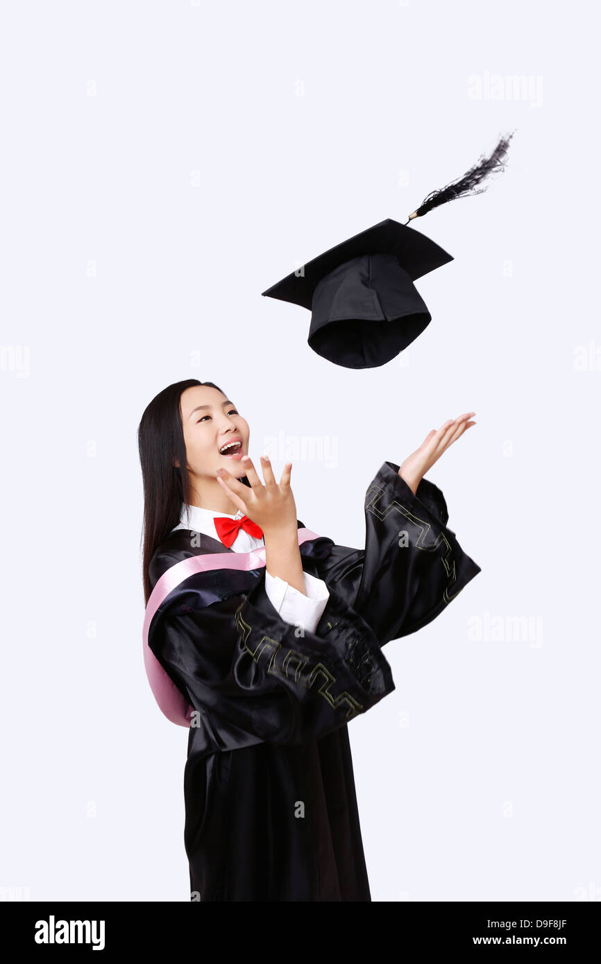 young woman in baccalaureate gown Stock Photo: 57499079 - Alamy