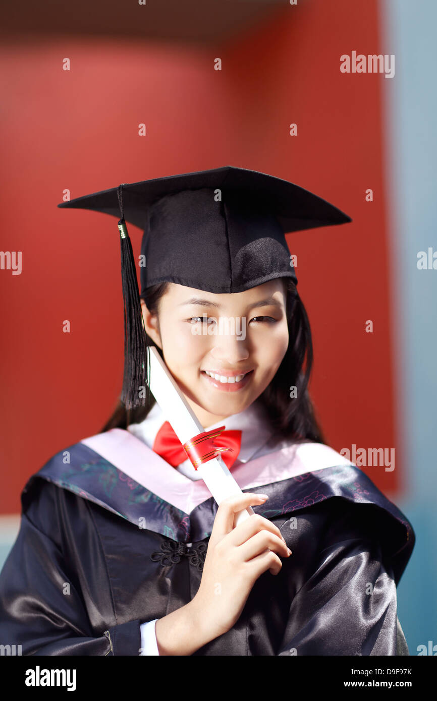 young woman in baccalaureate gown Stock Photo: 57499559 - Alamy