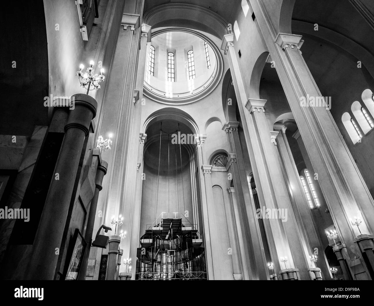 Holy Trinity Cathedral also known as Sameba in Tbilisi, Georgia. - Stock Image