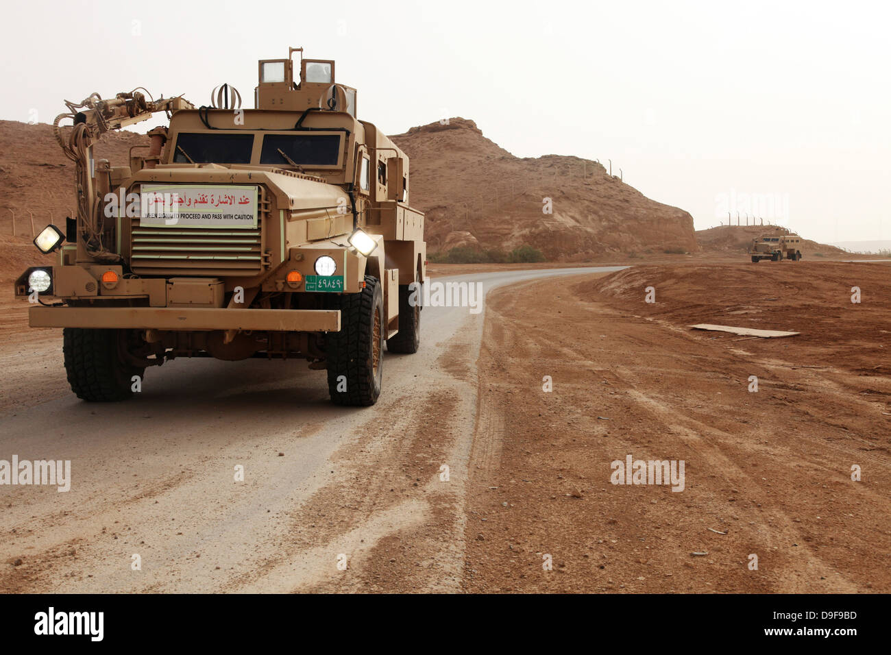 Cougar armored fighting vehicles in Iraq. - Stock Image