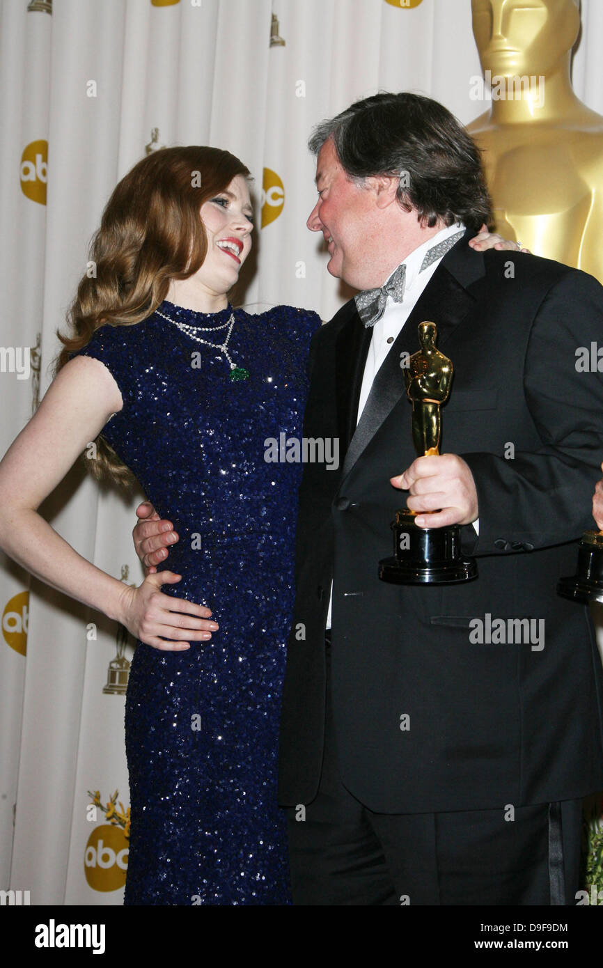Amy Adams and Kirk Simon 83rd Annual Academy Awards (Oscars) held at the Kodak Theatre - Press Room Los Angeles, - Stock Image