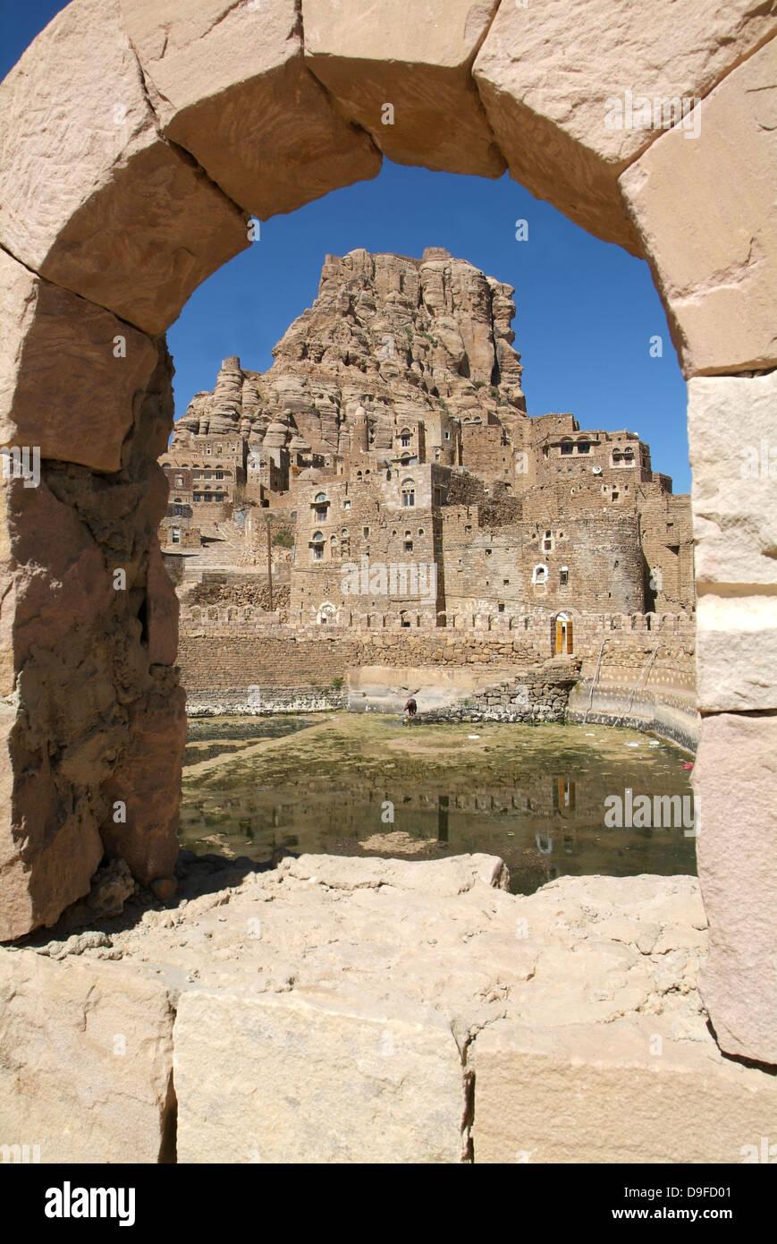 The village of Thula on Yemen - Stock Image