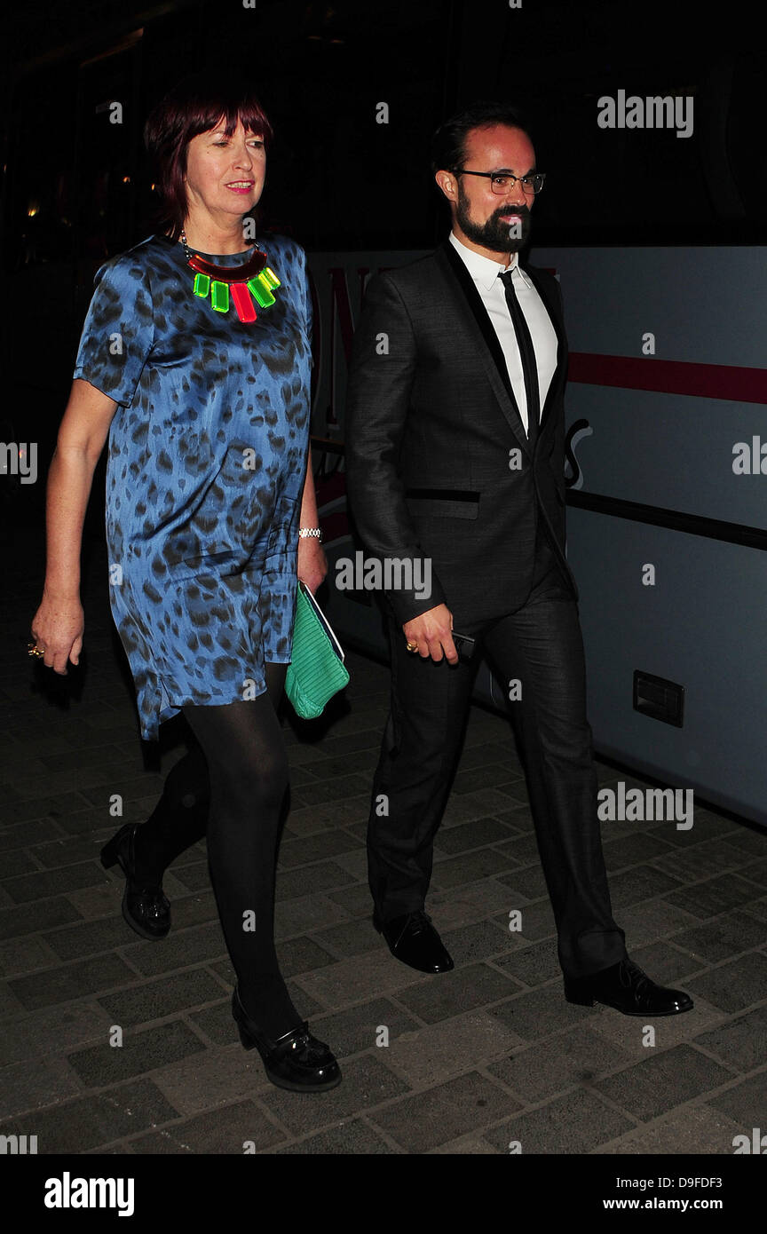 Janet Street Porter and Evgeny Lebedev at the 'The Wizard of Oz' press night held at the Palladium Theatre - Stock Image