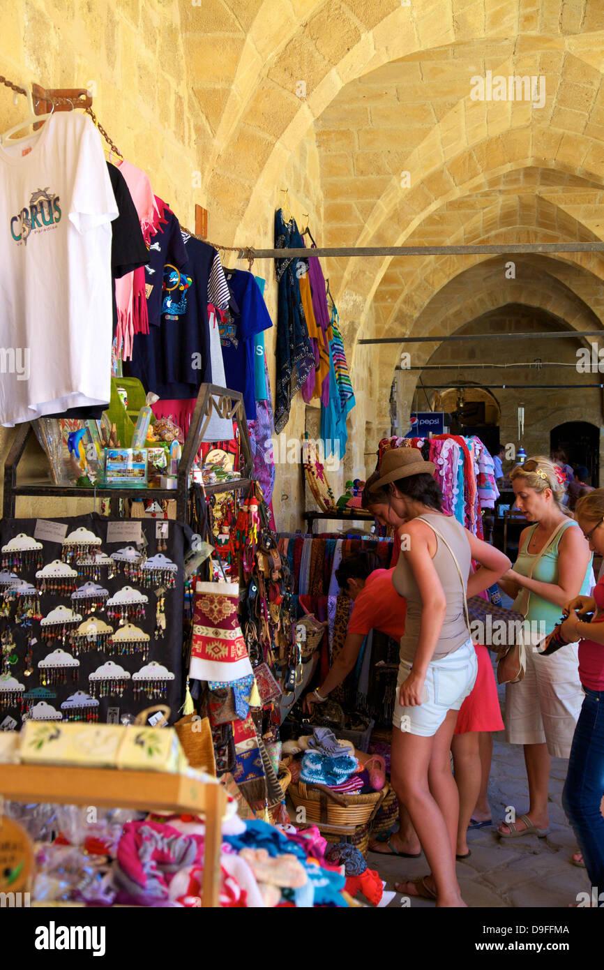 Tourist Shop, Buyuk Han, North Nicosia (Lefkosa), North Cyprus, Cyprus - Stock Image
