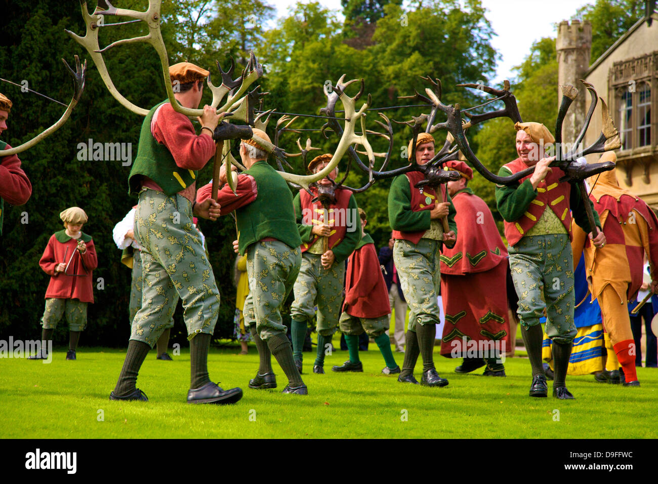 Abbots Bromley Horn Dance, Abbots Bromley, Staffordshire, England, UK - Stock Image